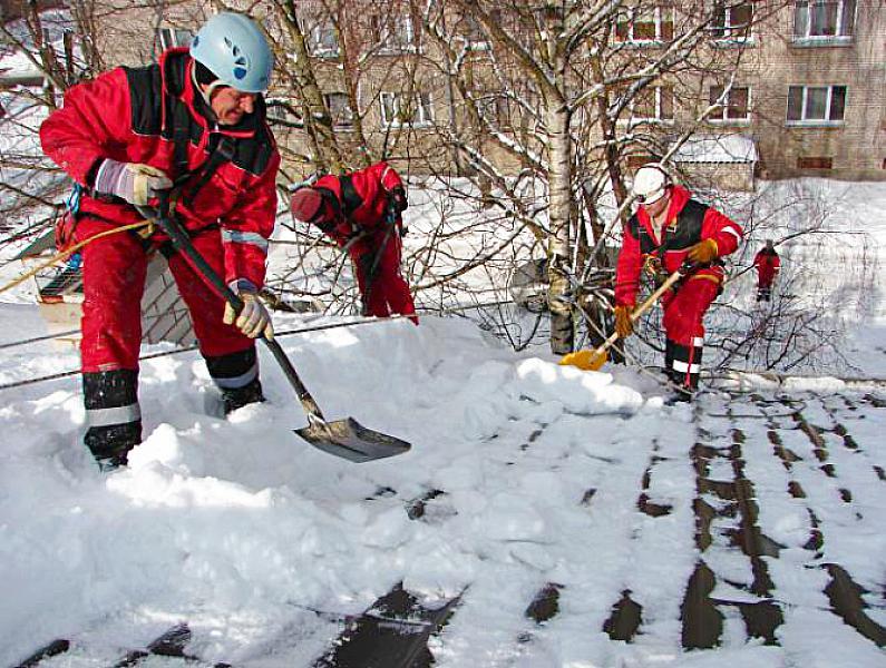 Приказ о работе по очистке снега с крыш